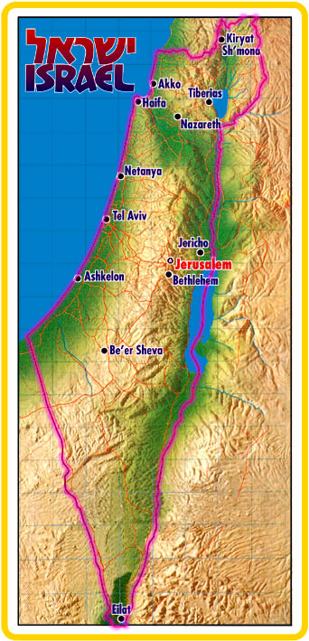 map of israel. map of israel