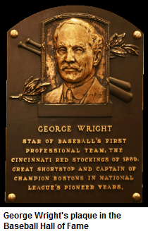 George Wright's Hall of Fame plaque