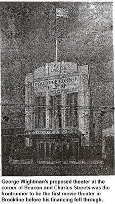 Illustration: Sketch for George Wightman's proposed theater at Beacon and Charles Streets