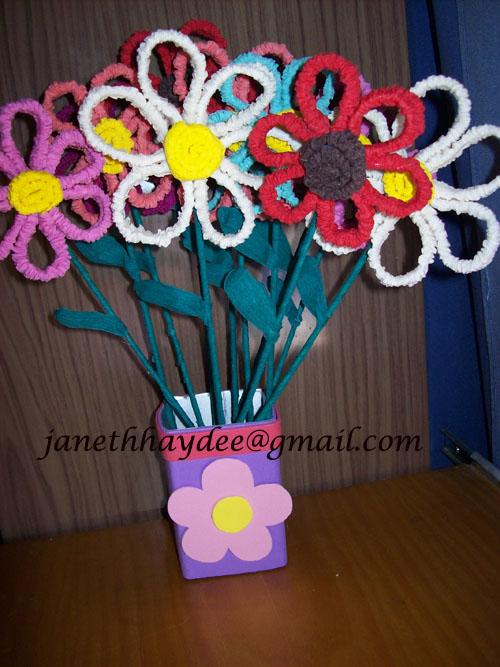 Flores hecha en foami - Imagui