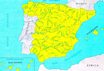 Educaci n primaria conocimiento del medio estudia los r os de espa a y sus afluentes - Que hay en portugal ...