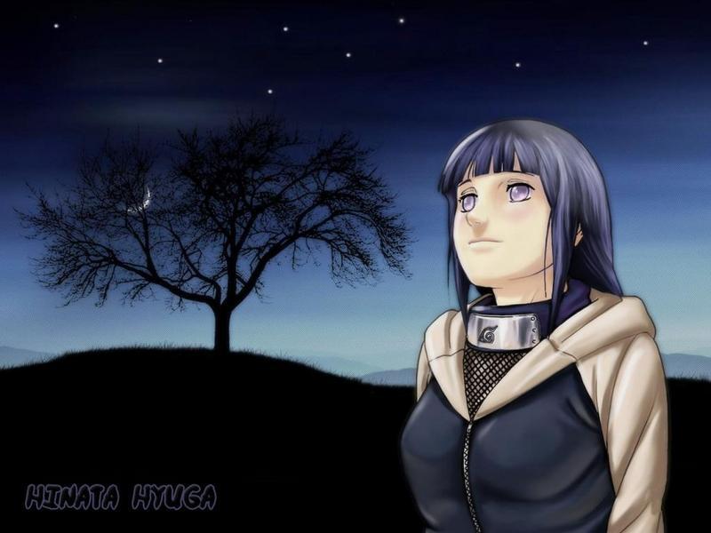 moonlight wallpaper. hinata-hyuga-moonlight