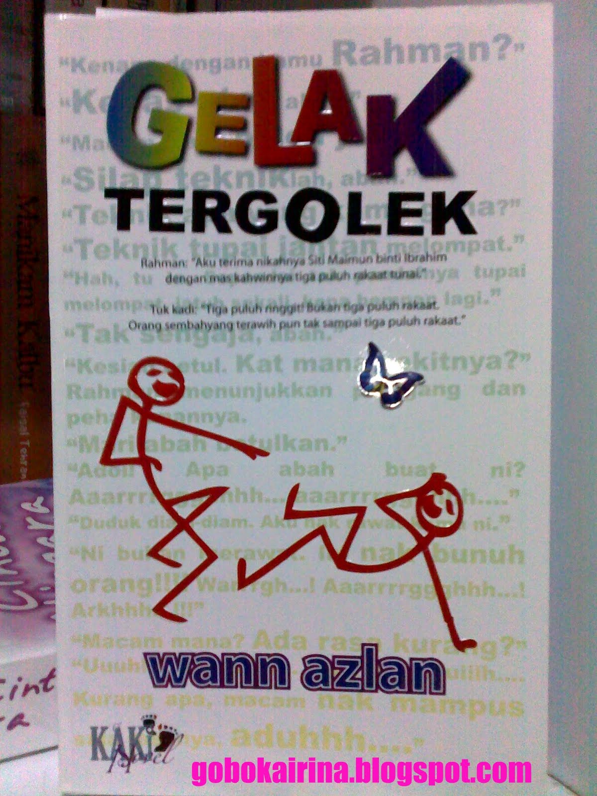 gelak tergolek novel