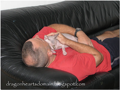 Merlin on dad's chest