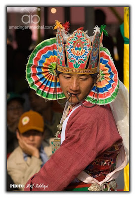 Enticing Aji-Lhamu dance drew great attraction of crowds as it was never seen before in the vicinty
