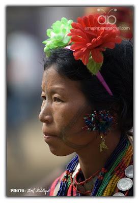 The Burmese Naga tribe of Sagiang Division of Mayanmar