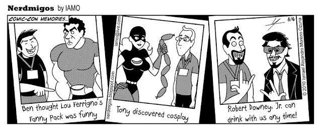 Nerdmigos Comic Con Robert Downey Jr Lou Ferrigno Chorizo Bandit Cosplay by IAMO