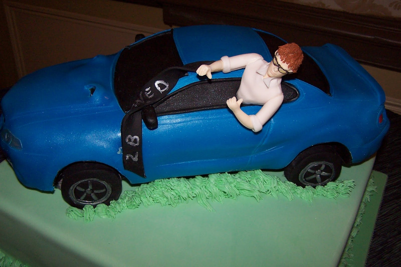 Old World Cake Co LLC 98 Ford Cobra MUSTANG Grooms Cake