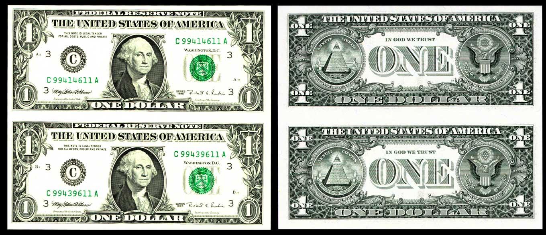 Primera vista un billete de dólar es simplemente dinero sin