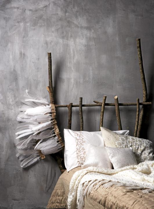 Mitt miljøvennlige hjem: sengegavl  gjøre det selv?