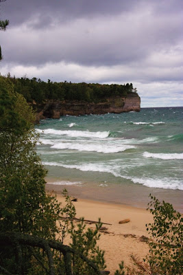Chapel Beach in the Upper Peninsula of Michigan is a chilly spot in the fall