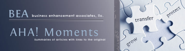 Business Enhancement Associates Aha! Moments
