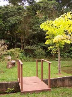 Ponte sobre o corrego que vem do Mário Lago