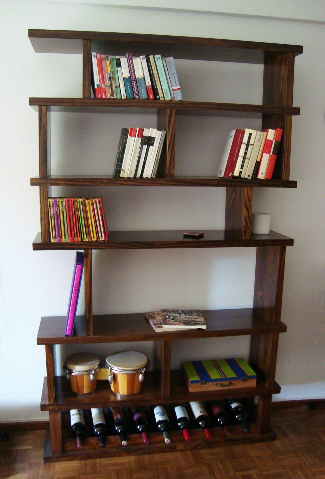 Nalette muebles biblioteca vinoteca for Bibliotecas muebles