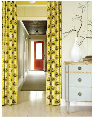 yellow and black curtains. Black Bedroom Furniture Sets. Home Design Ideas