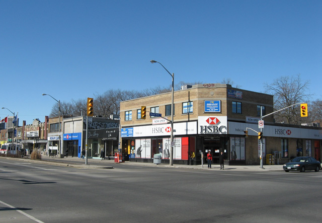 Royal York and Bloor Street West Northwest corner 2010