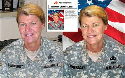 US Army General Ann Dunwoody Photo Manipulation