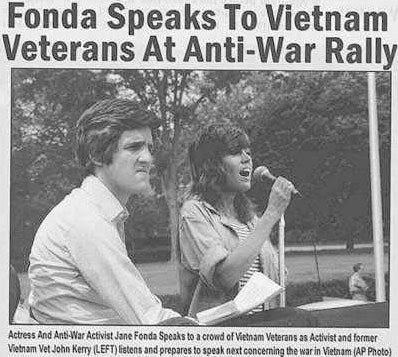 John Kerry Jane Fonda Anti-Vietnam War Rally Fake Photo