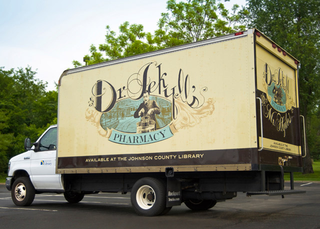 Book Truck Dr Jekyll Johnson County Library Kansas City