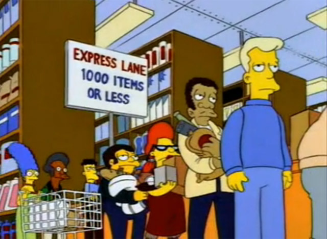Simpsons Express Lane Marge and Apu
