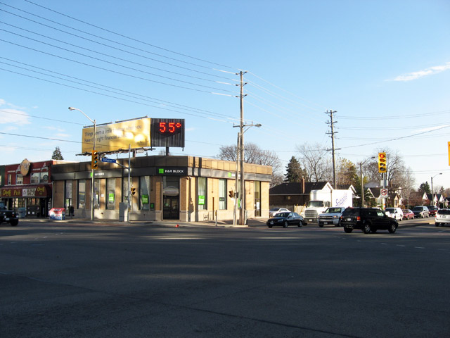 Islington and Bloor Street West TD South East Corner 2009