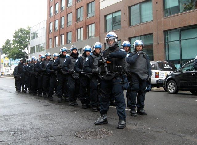 G20 Toronto Riot Police Tear Gas