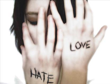 poemas de odio y amor. amor odio. Tu amor es un