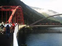 阿寺川橋。ゴールまであと少し!