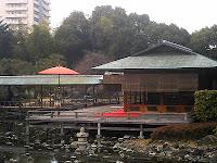 白鳥庭園 茶室(清羽亭)