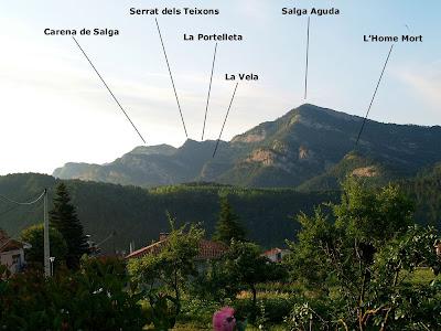 Serra de Picancel des de la Casa Nova