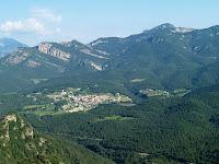 Vilada i les serres del nord des del Serrat dels Toixons