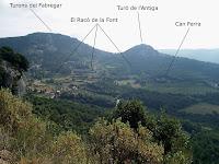 Panoràmica des de la Solella de Ca n'Aliguer