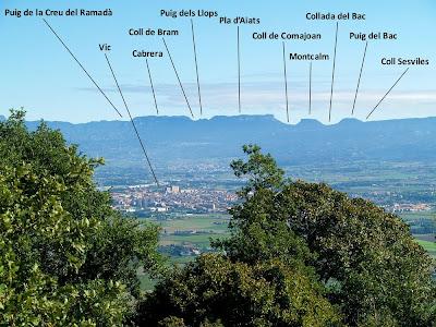 Les muntanyes de Cabrera des de la Creu de la Miranda
