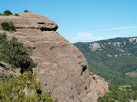 La Roca del Corb des del Collet de l'Arca