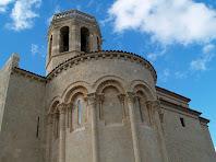 Detall de l'absis de l'església de Santa Maria