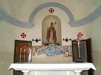 Interior de la capella de Sant Ponç