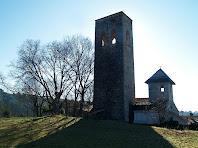 El campanar i el comunidor de Sant Esteve de Palaudàries