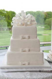 Pure White Bow Cake