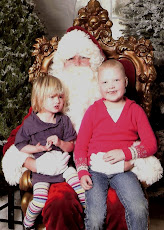 Emily and Haley with Santa
