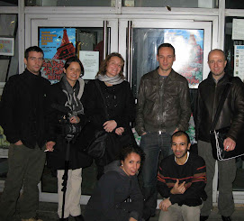 François Bégaudeau et une partie de l'équipe du blog