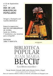 23 de Septiembre de 2011, exposición ¿Qué es una biblioteca?