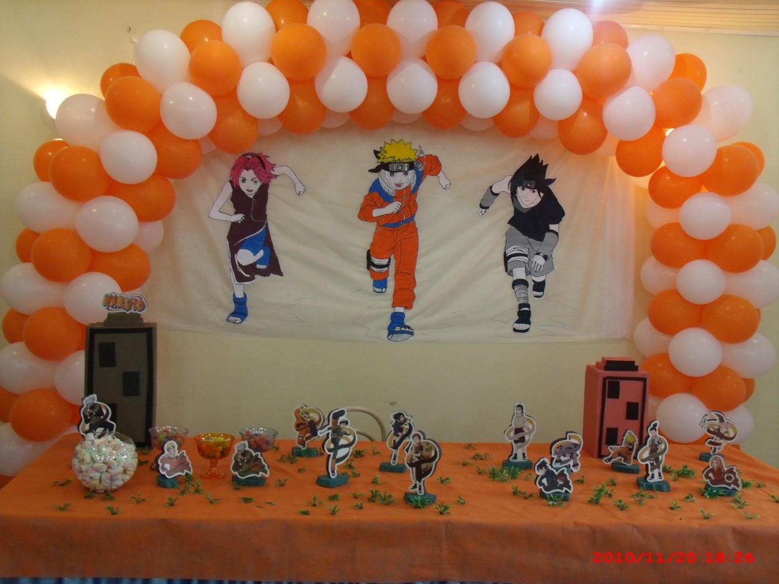 decoracao festa naruto:Nara Artes Decorações: Decoração do Naruto