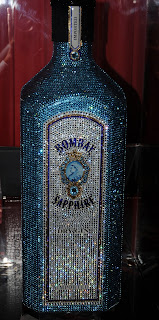 Crystal Bombay Sapphire gin bottle, Hotel Martinez, Cannes