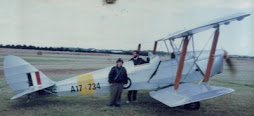Beth and Tiger Moth, c1989