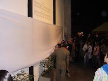 """Fotos de la inauguración del mural """"Homenaje al barrio Bellavista,en el cual participé con una obra"""