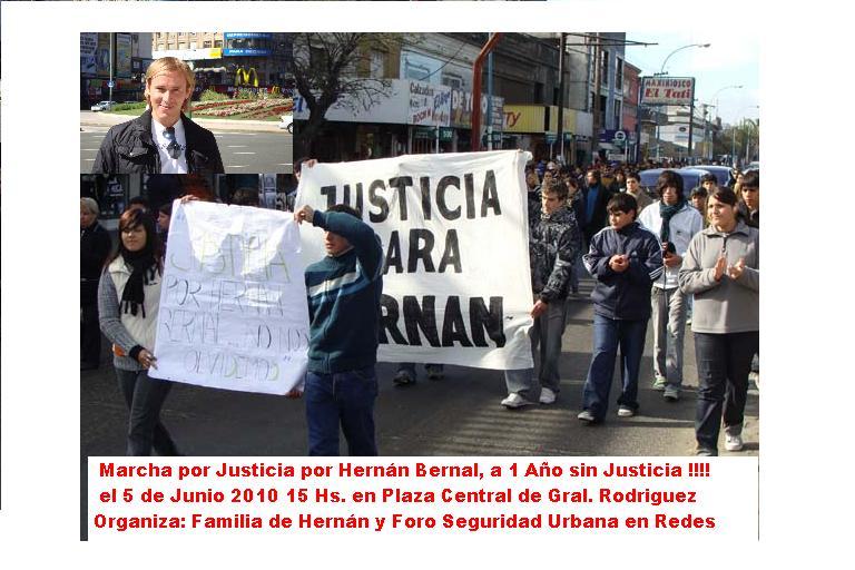 Basta de Drogas en las Escuelas. Marcha 5 de Junio por Hernan en Gral. Rodriguez