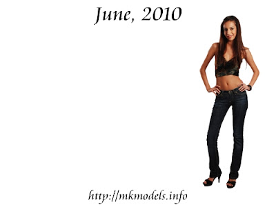 Irena Tanevska, Wallpaper for June 2010