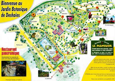 plan de la visite au jardin botanique de Deshaies