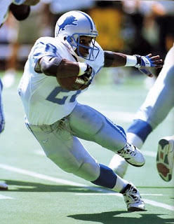 Detroit Lions running back Barry Sanders
