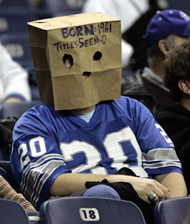 A shamed Detroit Lions fan